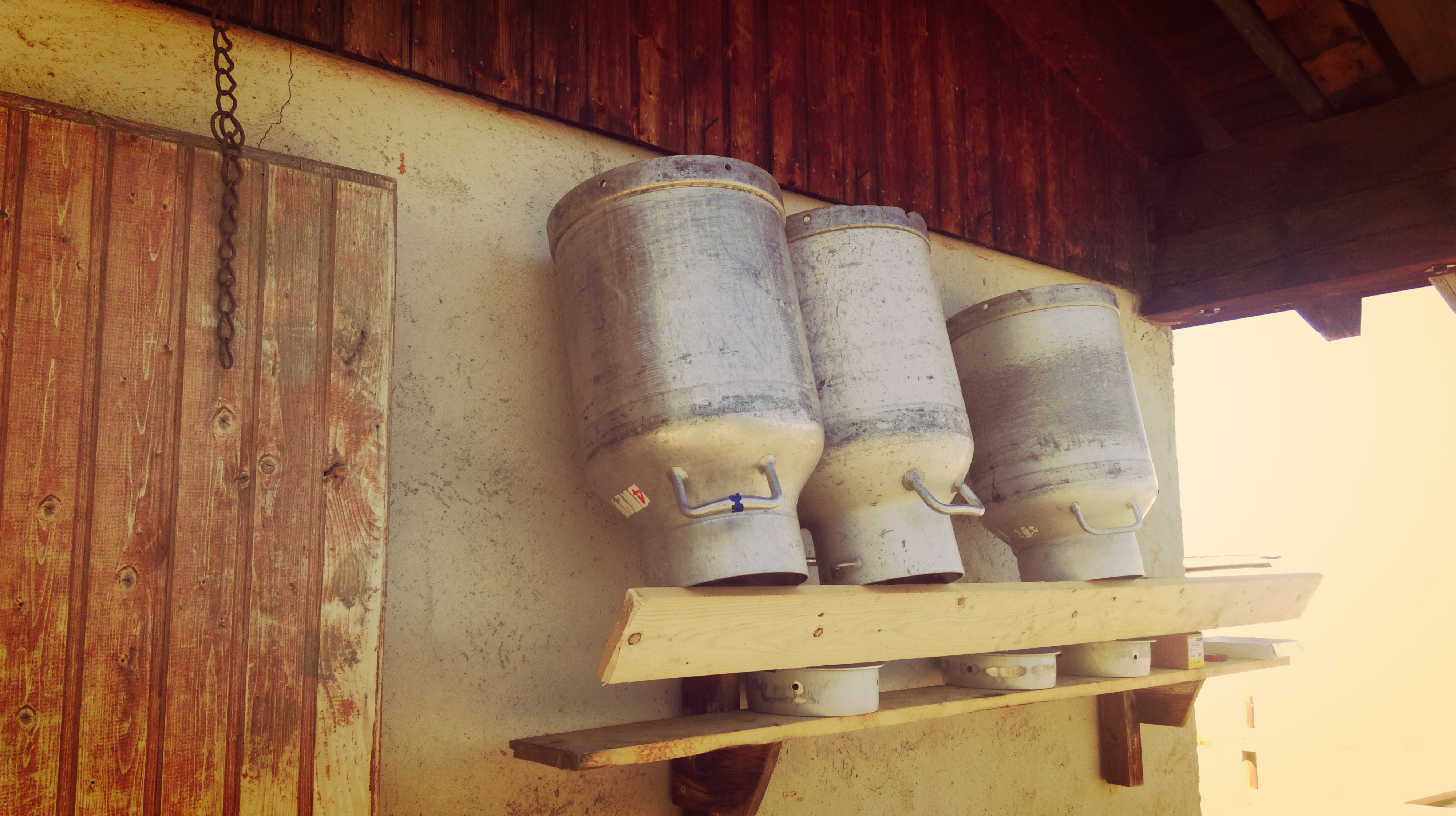 Milchkanne auf der Alm Region Hall-Wattens in Tirol