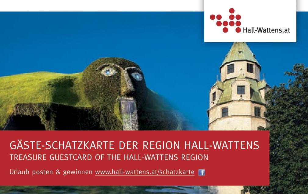 Schatzkarte Gästekarte Region Hall-Wattens